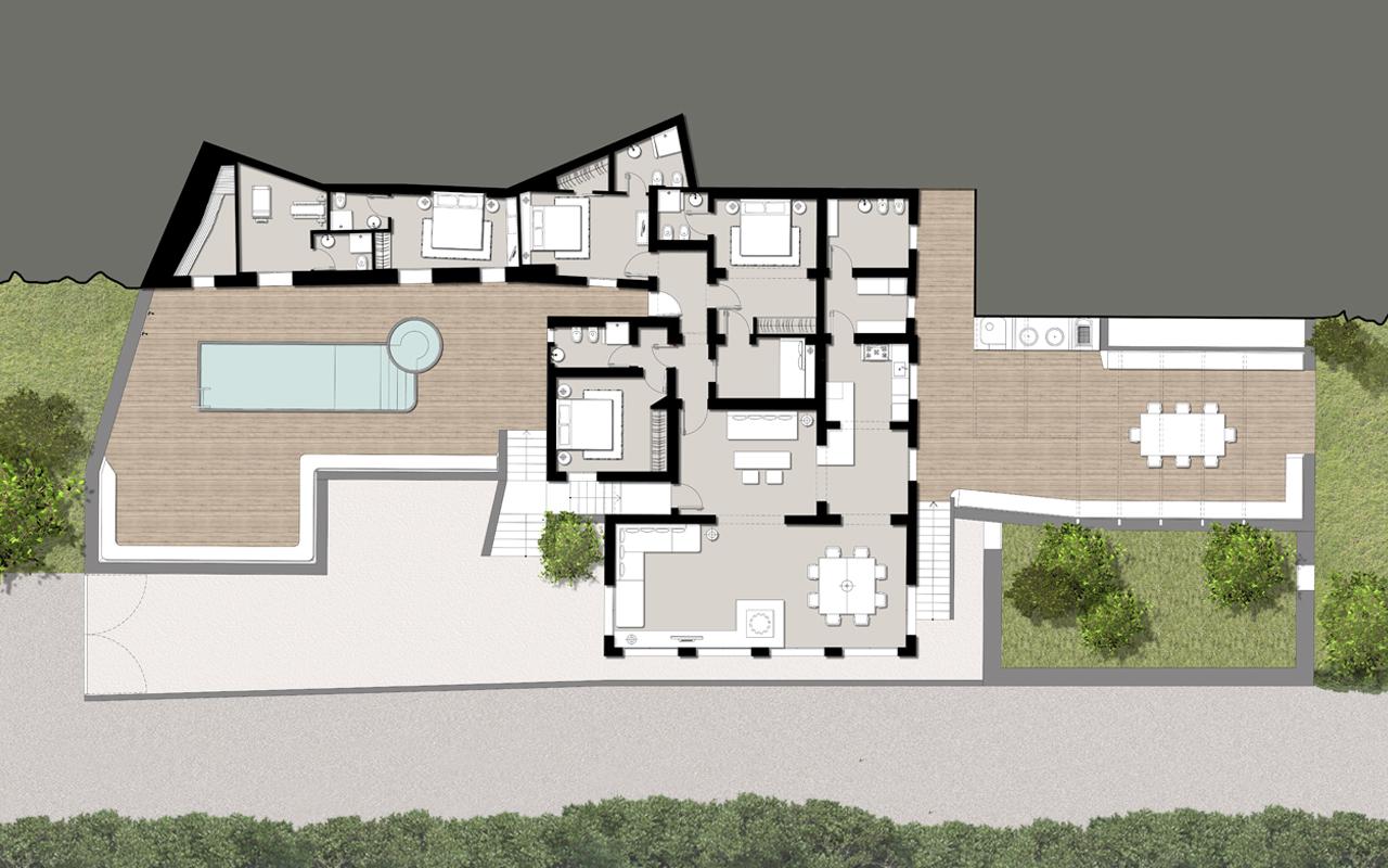Pierluigi molteni architetto casa lv pantelleria for Architettura interni case